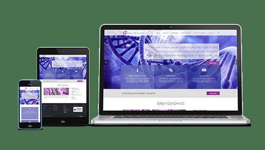 Orbit Genomics Website Design Puffer Web