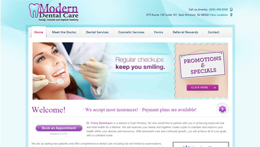 Modern Dental Care Puffer Web