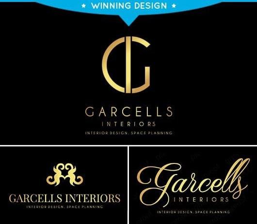 Garcells Interiors Logo Design
