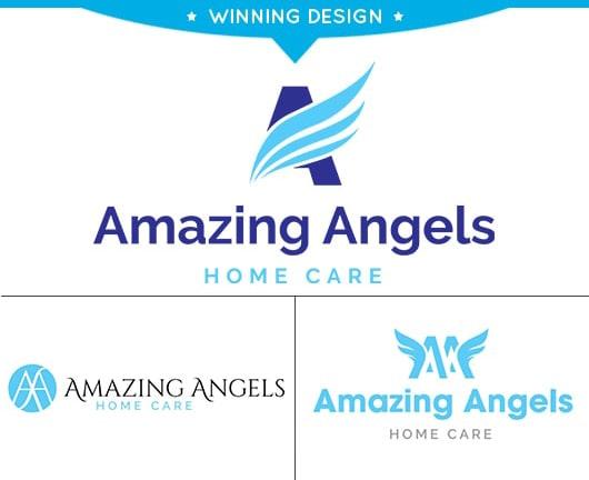 Amazing Angels Home Care Logo Design